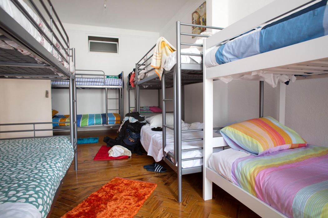 Bunk bed in 6-Bed-Dorm in central area