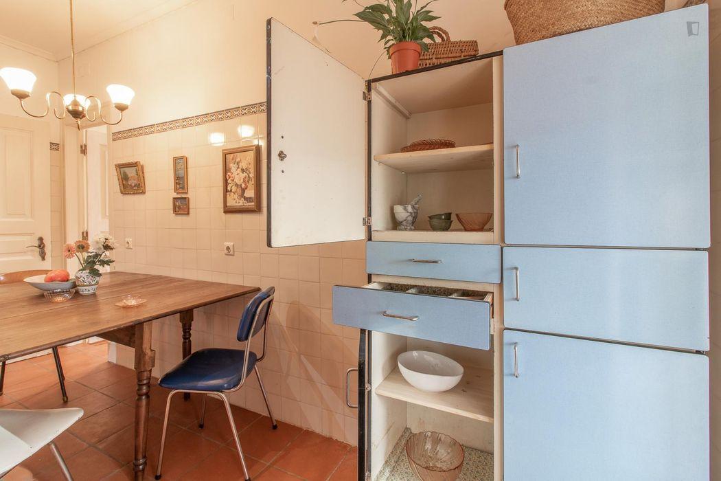 Bright double bedroom in Arroios