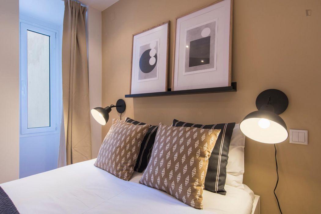 Appealing 1-bedroom apartment in Santos