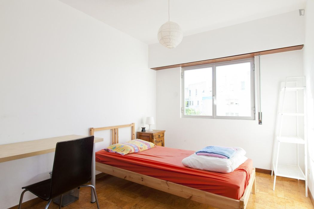 Single bedroom in cool apartment in Olaias