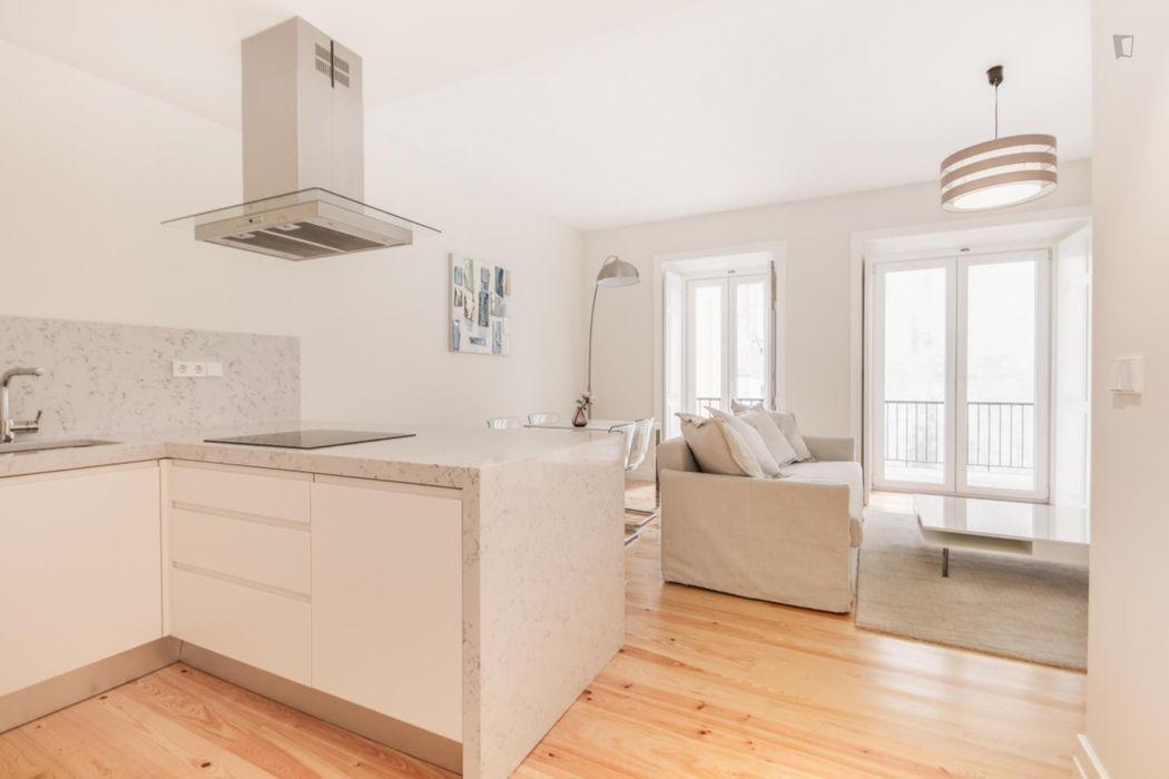 1-bedroom apartment, with outdoor area in Graça