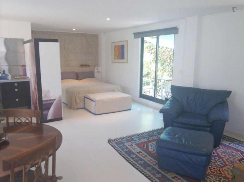 Spacious and bright studio in Parede