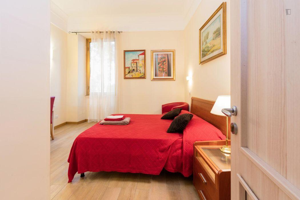 Spacious double bedroom near the Ottaviano metro