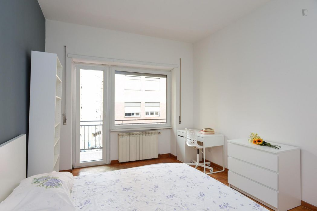 Alluring double bedroom near Quattro Venti train station