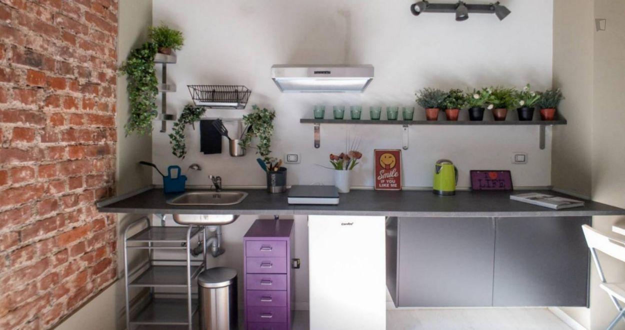 Beautiful private studio in a common spacious flat near Tortona