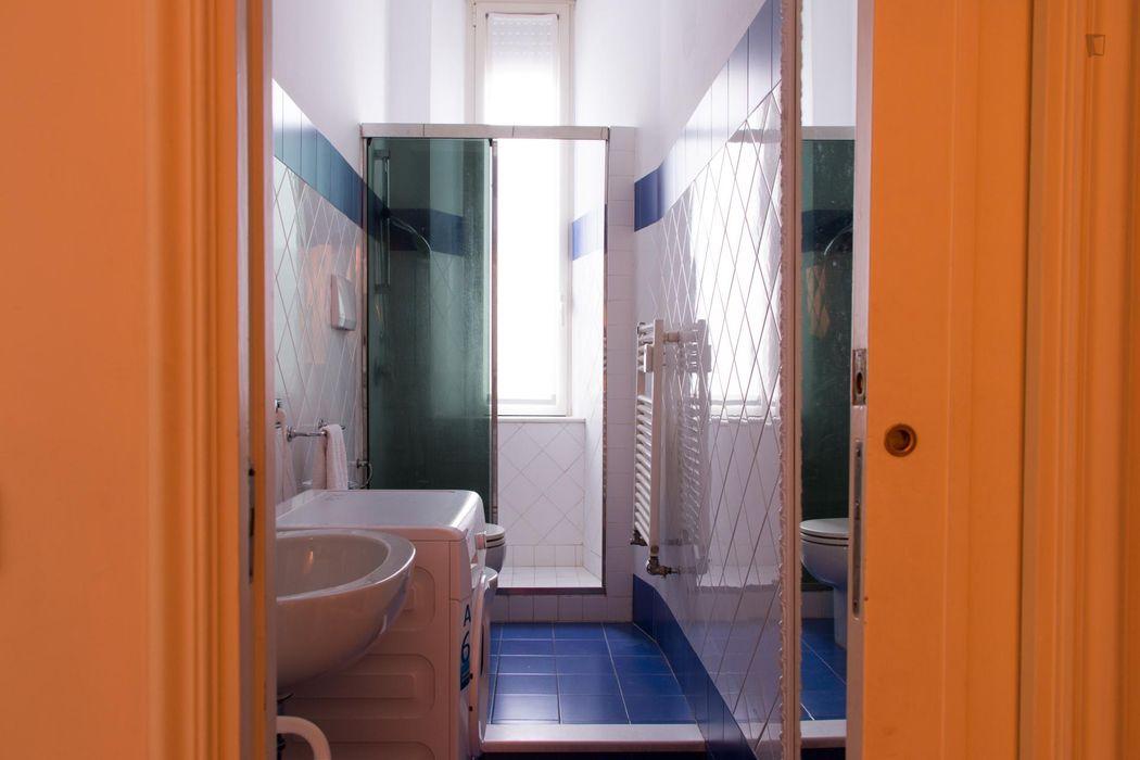 Cool twin bedroom in San Vittore