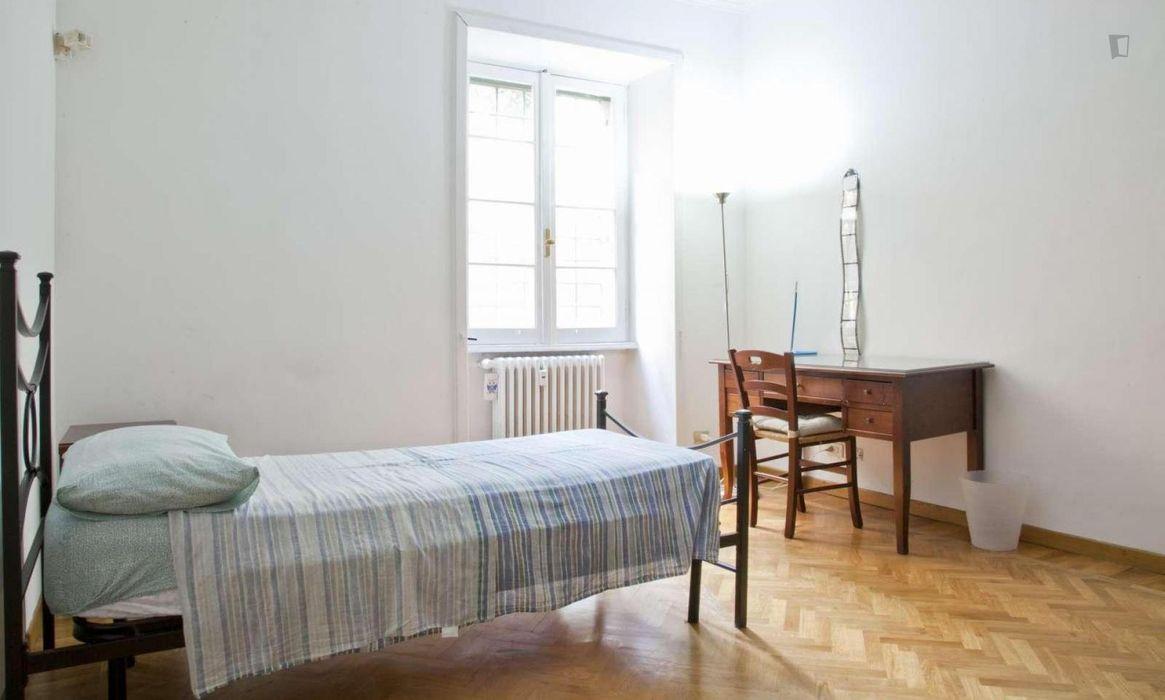 Cool single bedroom near Università La Sapienza