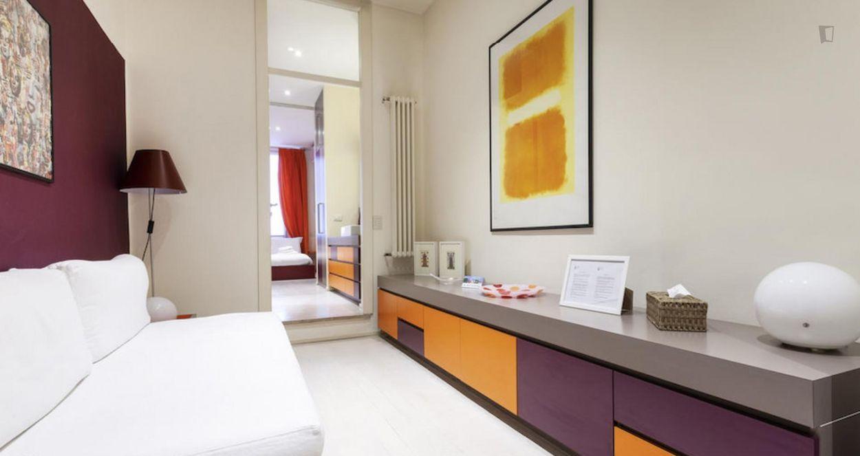 Modern 1-bedroom apartment near Moscova metro station