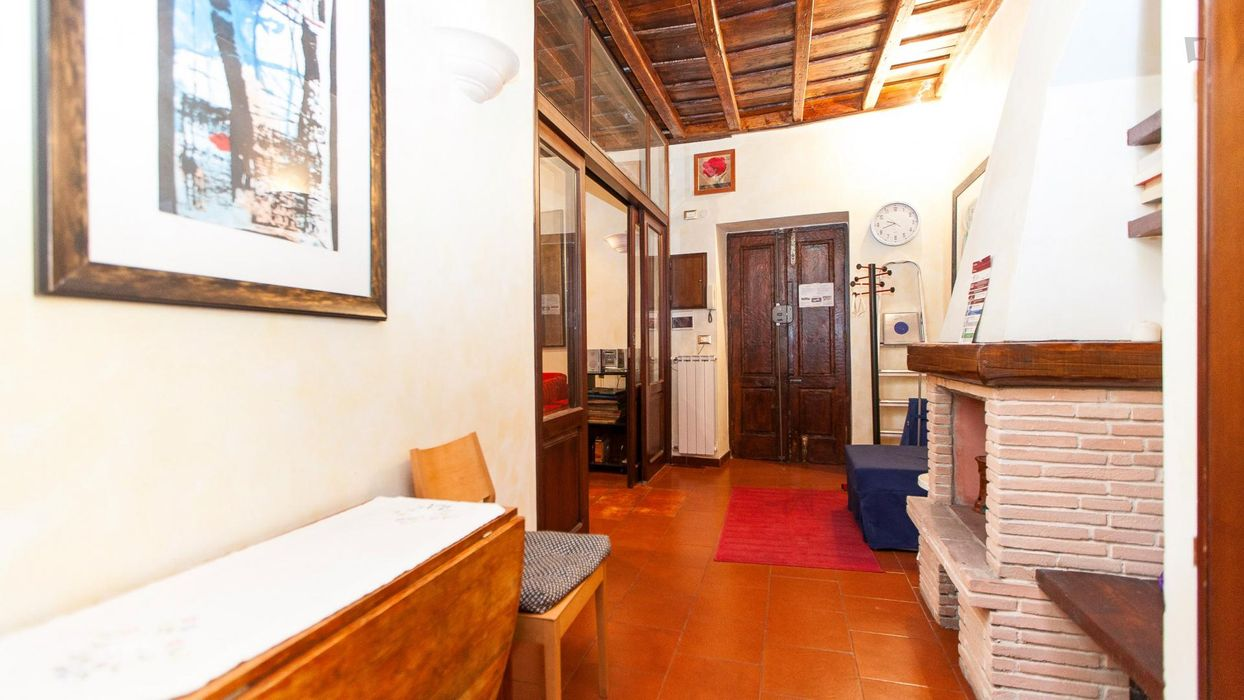 Warm and pleasant 1-bedroom apartment in Trastevere