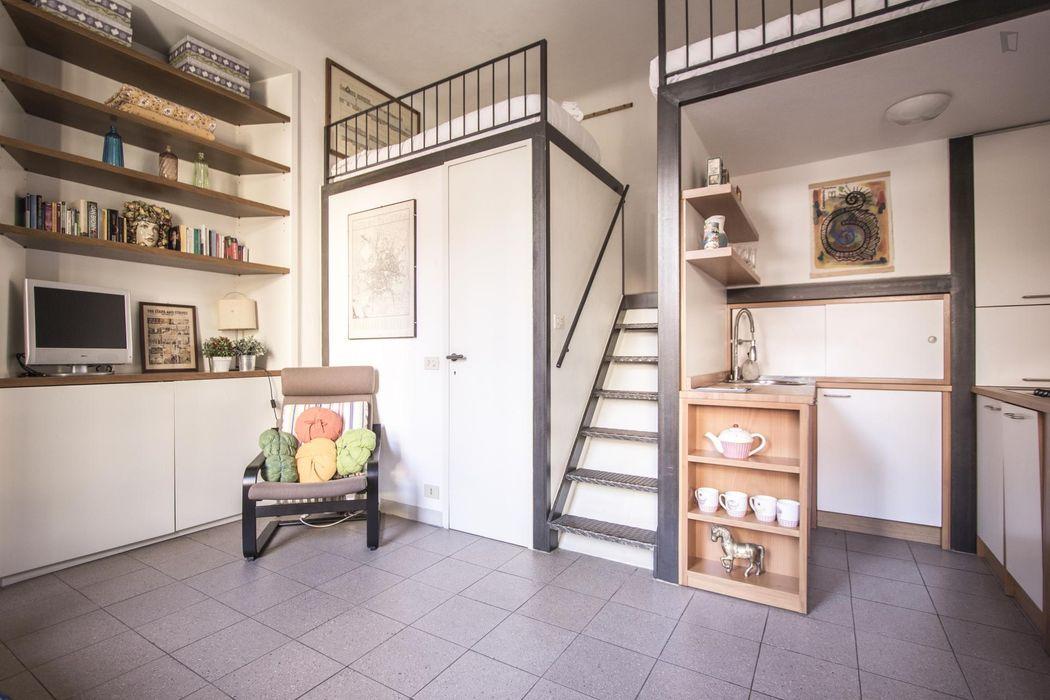 Ample and bright studio in Navigli-Darsena