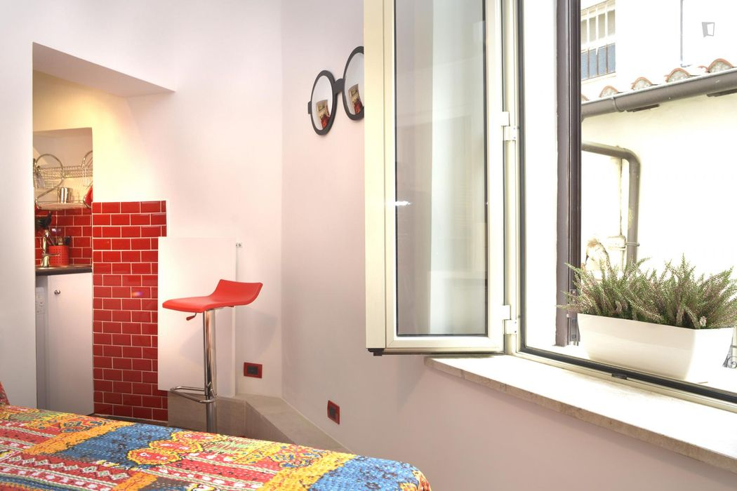 Colourful studio in the Rione V Ponte neighbourhood