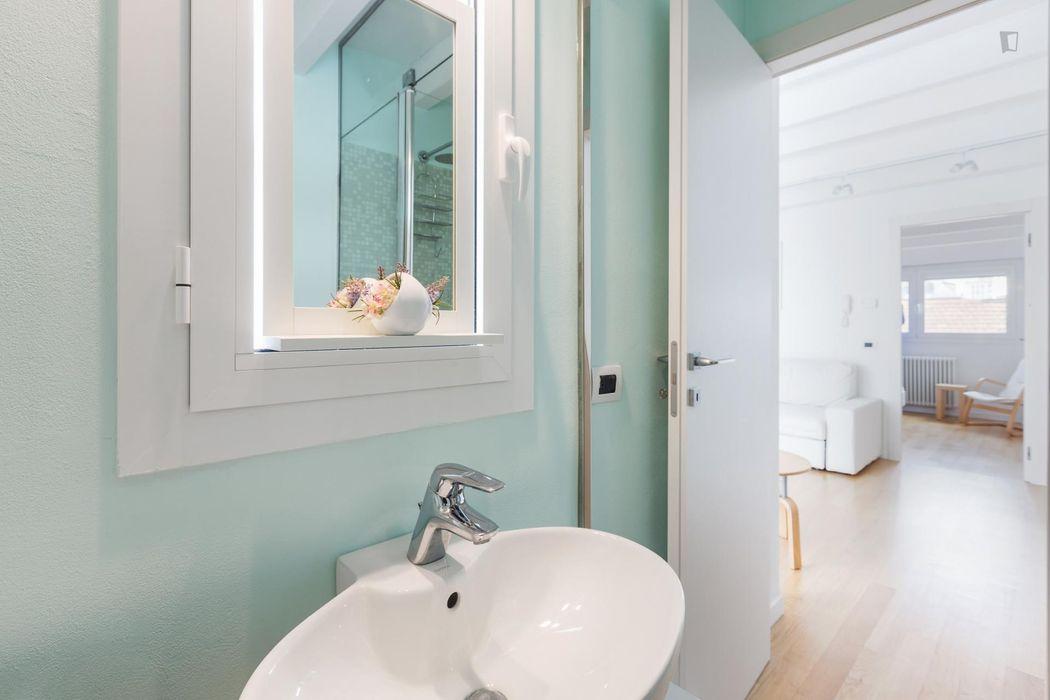 Bright 1-bedroom apartment near Moscova metro station