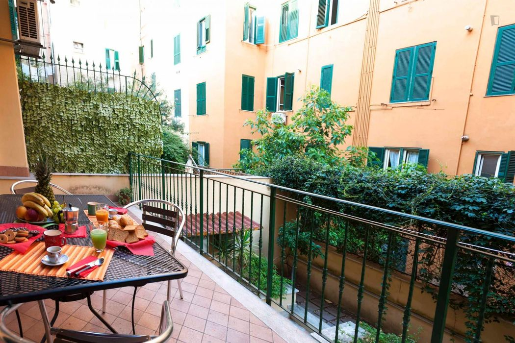 Beautiful and fully-furnished two bedroom apartment near Piazza Bologna