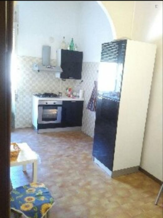 Bright double bedroom near the Bologna metro