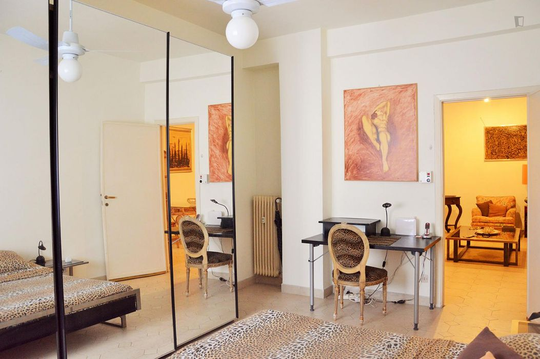 Really fancy 2-bedroom apartment in up-and-coming Trastevere neighboruhood