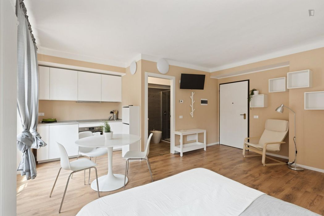 Newly refurbished studio flat well connected to Milan city center