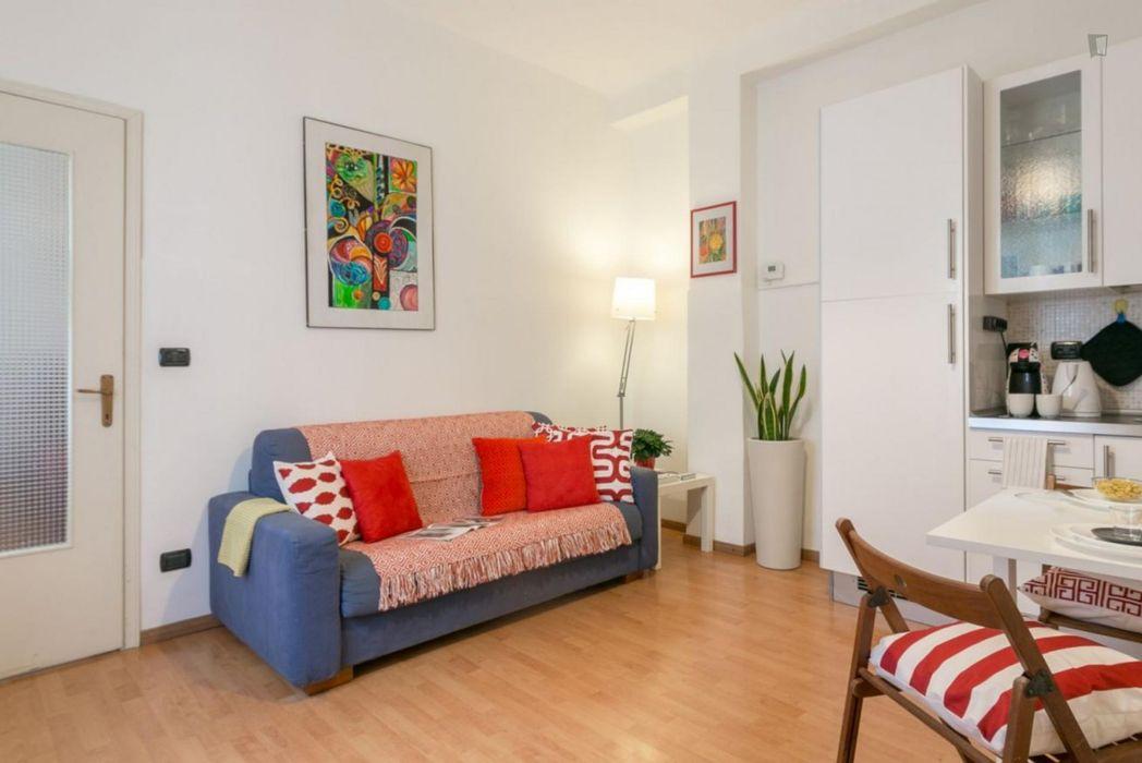 New 1-bedroom apartment located close to Porta Genova metro station