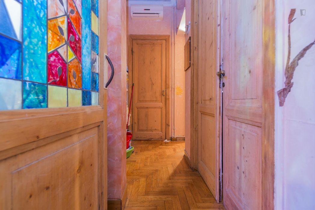Inviting single bedroom close to Furio Camillo metro station