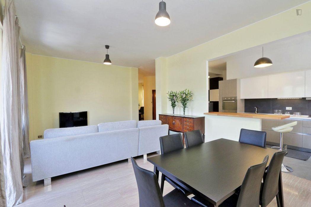 Modern 3-bedroom flat close to Sapienza Università di Roma