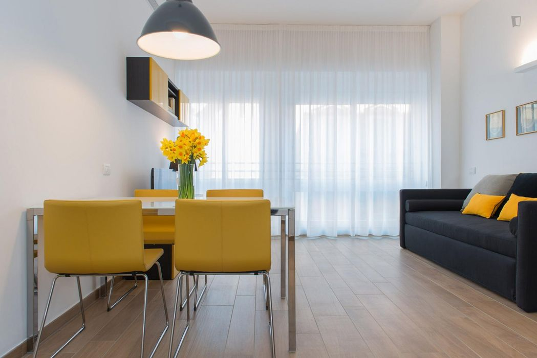 Modern 1-bedroom apartment near Moscova Metro
