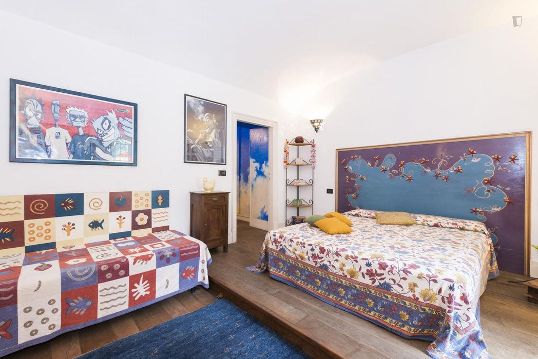 Awesome 1-bedroom apartment in residential Trastevere