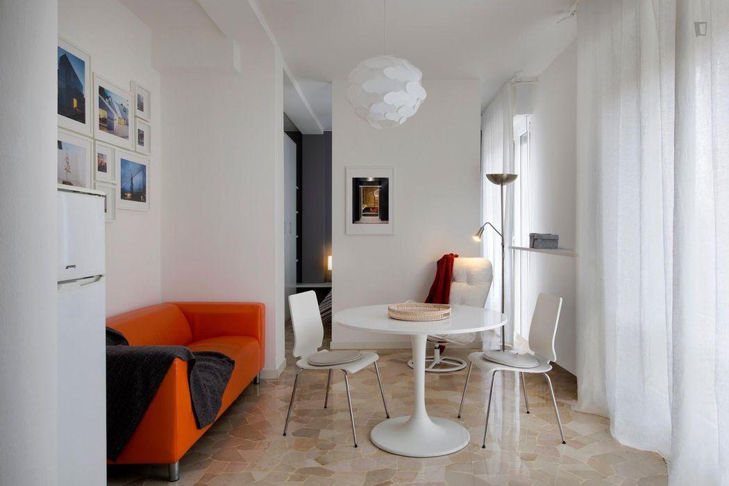 Wonderful studio near Piazza Don Luigi Borotti