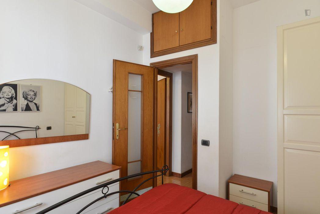 Double bedroom in a 2-bedroom flat in Tufello