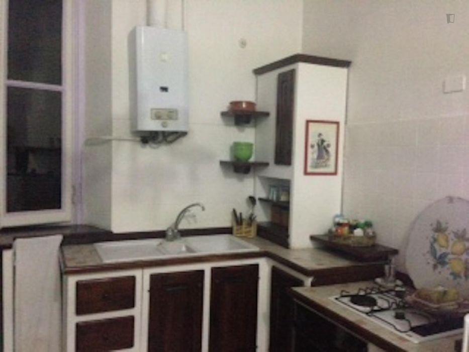 Inviting twin bedroom in typical Zona Risorgimento