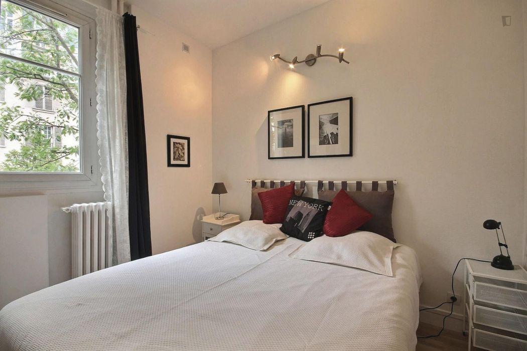 Nice 1-bedroom apartment in Paris, near Louis Blanc subway station