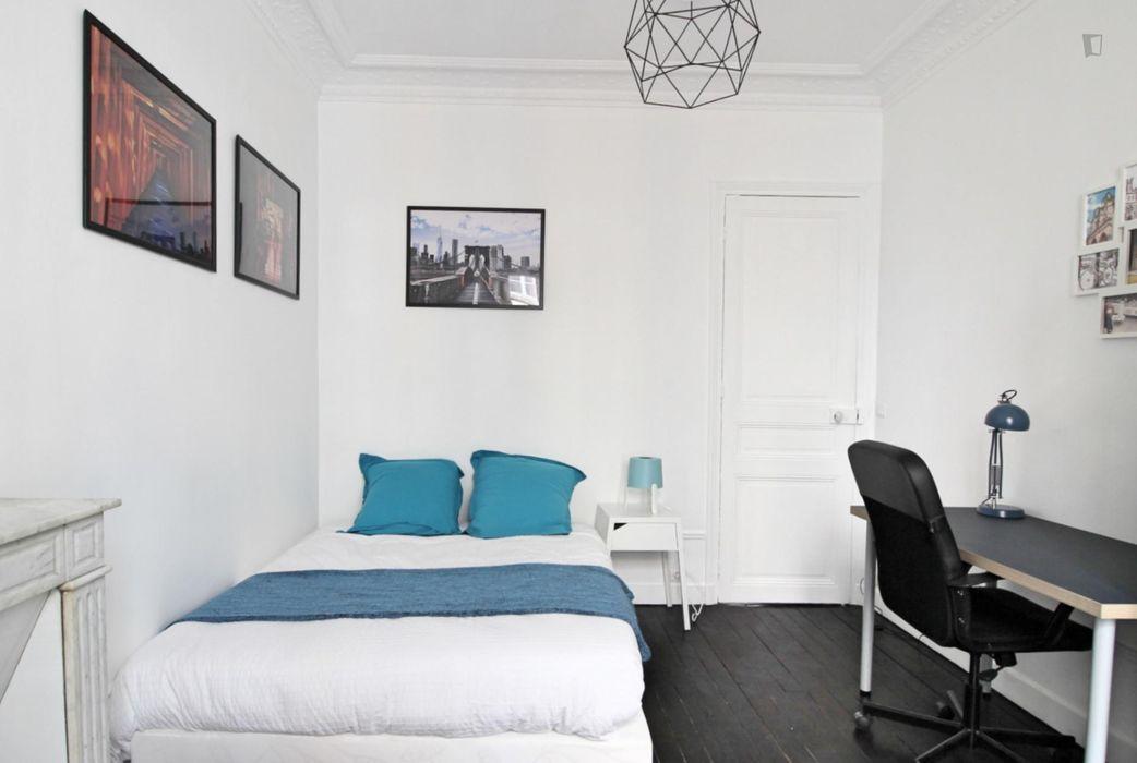 Really nice double bedroom near the Saint-Fargeau metro