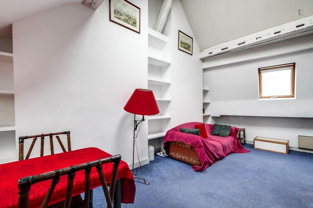 Duplex confortable avec 2 chambres, Paris 7ème