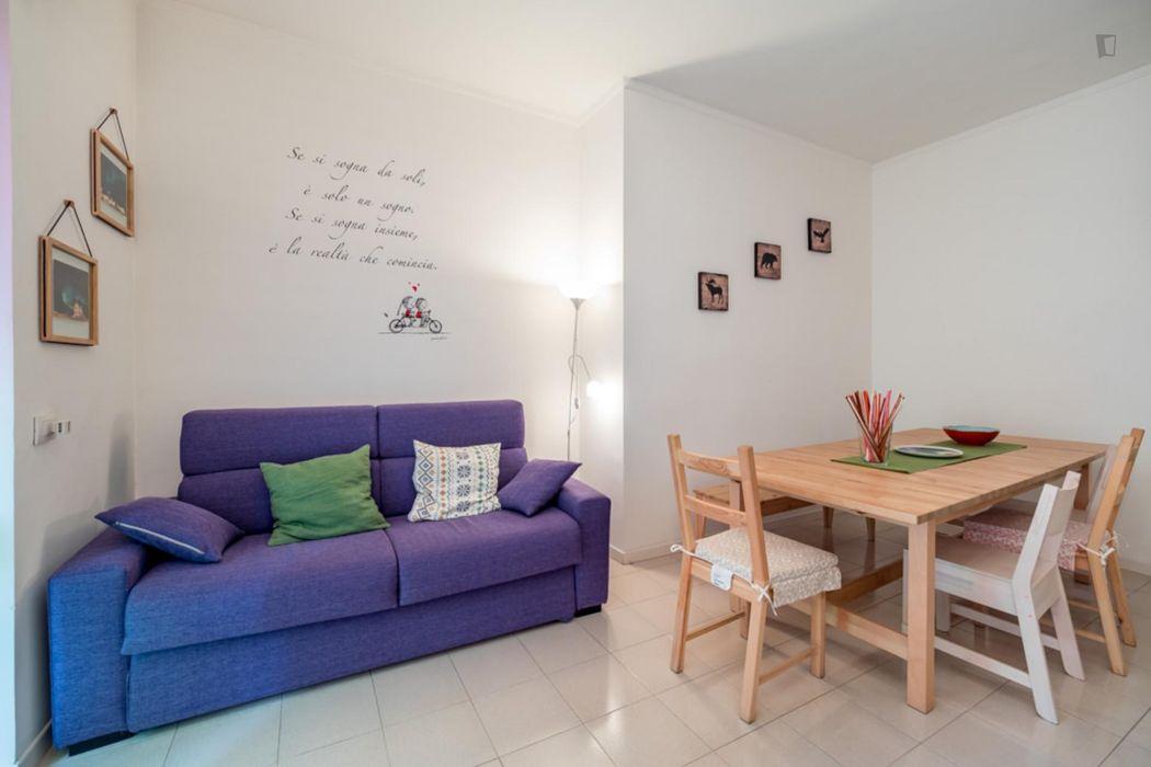 Cool 2-bedroom apartment near Crescenzago metro station