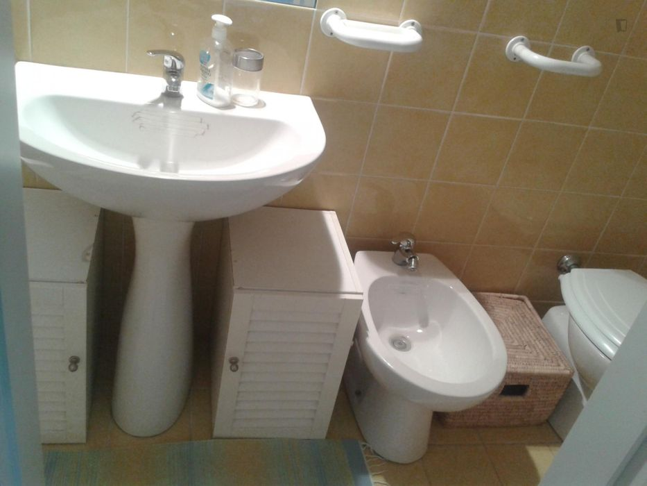 Double bedroom in a 3-bedroom apartment near Basilica S. Paolo train station