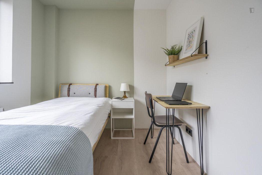 Modern single bedroom in The Hague