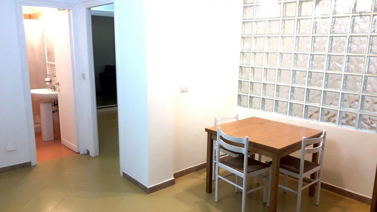 Double bedroom in a 2-bedroom apartment near Roma Trastevere Railway Station