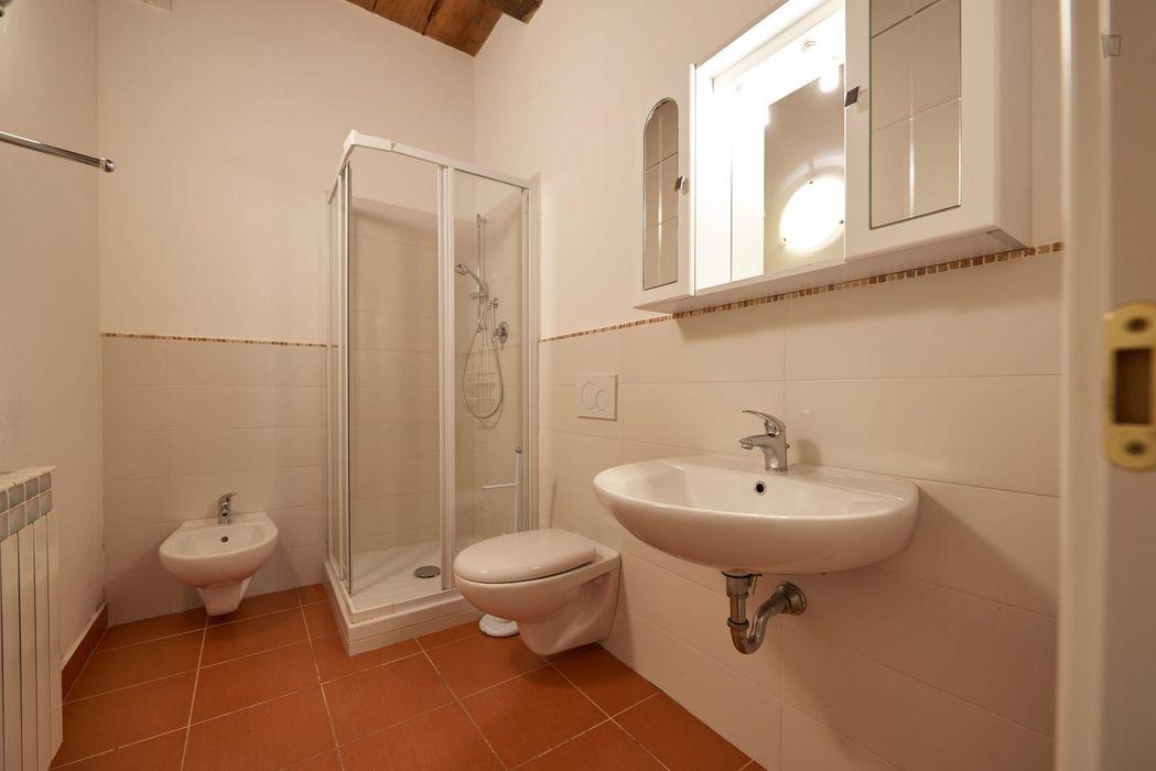 Cool twin bedroom in a 2-bedroom apartment near Basilica di Santa Croce di Firenze