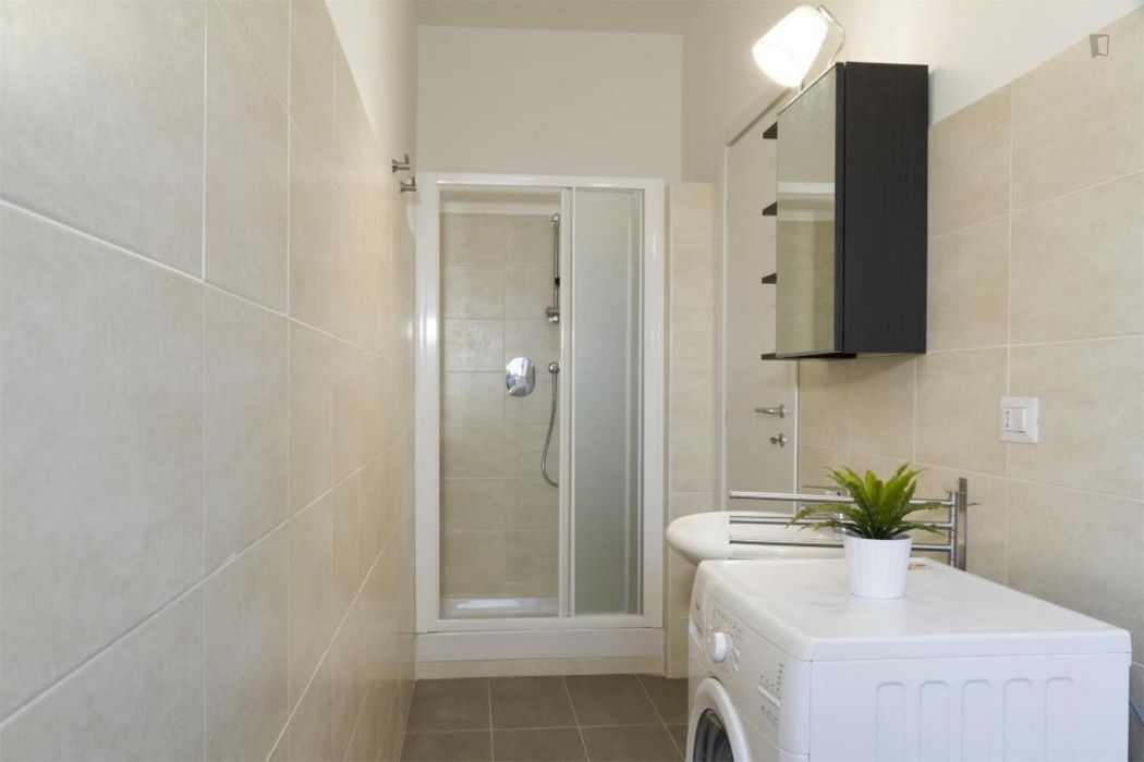 Comfy double bedroom in a 2-bedroom apartment near Sondrio metro station