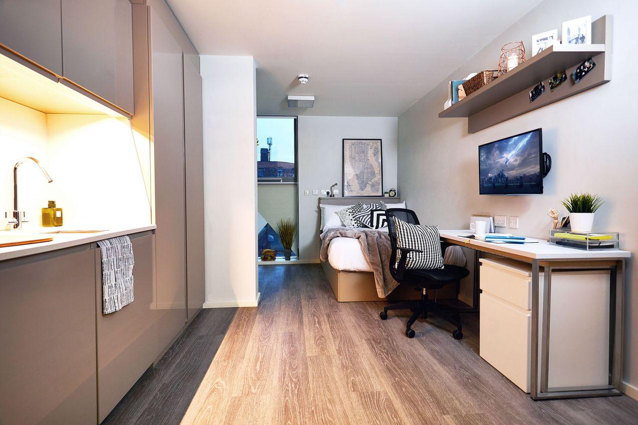 vita student first street manchester student. Black Bedroom Furniture Sets. Home Design Ideas